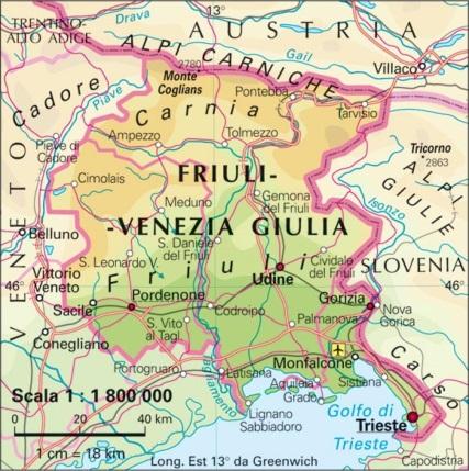 Cartina Del Veneto E Friuli.Servas Italia